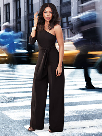7th Avenue - One-Shoulder Jumpsuit - New York & Company
