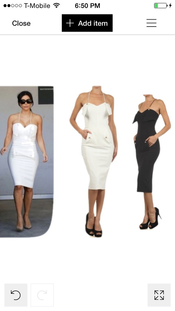 kim kardashian dope www.dorcellesempire.com f fashion dress white dress midi dress fall outfits white black
