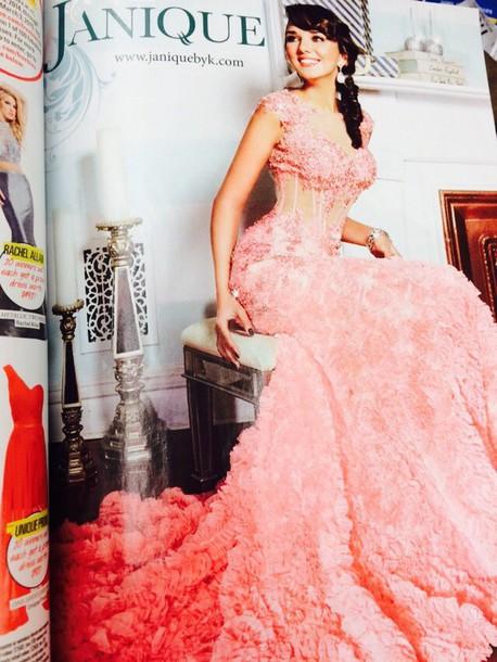 dress prom dress wedding dress pink dress