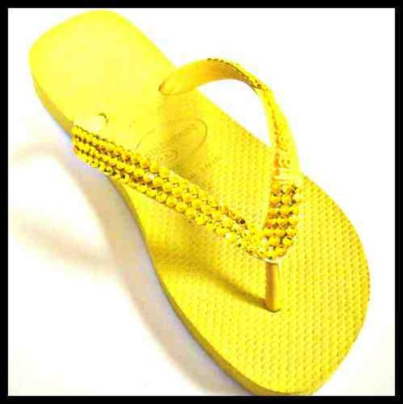lisa yellow orange shoes flipflop holiday beach wedding party prom glitter rhinestone diamonte blue gold black purple white pretty brown rose boutique bazely swarovski