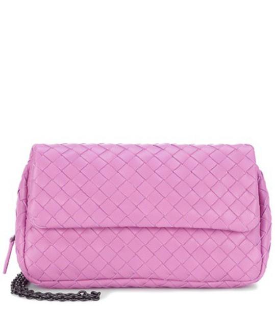 Bottega Veneta bag shoulder bag leather pink