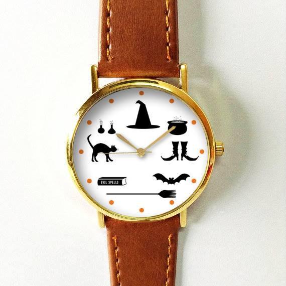 Essentials Watch , Halloween Vintage Style Leather Watch, Women ...