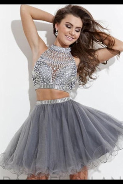 dress prom dress homecoming dress clothes dress silver short homecoming dress homecoming skater skirt skater dress two piece dress set two-piece silver dress blue gray dress grey dress party dress two piece prom dresses two pieces prom dress 2 piece prom dress homecoming dresses 2016 2016 homecoming dresses cocktail dress short party dresses short prom dress 2016 short prom dresses