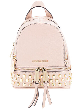 studded women backpack studded backpack leather purple pink bag