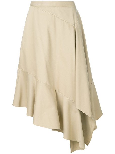 skirt midi skirt women midi nude cotton