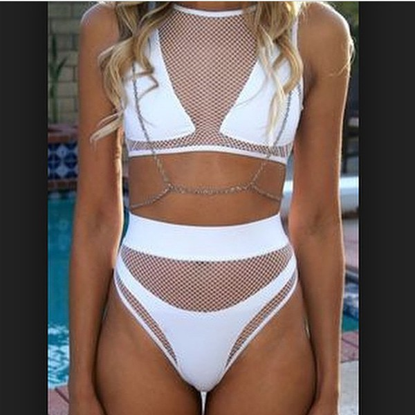 2015 Sexy Lace Bodycon Swimwear Women Push Up High Waist ...
