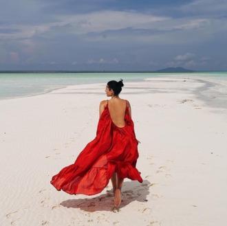 dress matchesfashion vacation dresses maxi dress red dress red maxi dress flowy dress flowy backless backless dress