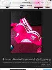 swimwear,bikini,pink,adidas