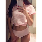 t-shirt,pink,cute,trendy,cool,fashion,style,rose wholesale-ma,blouse,girly,girl,girly wishlist,hotline bling,underwear,light pink,panties,pink panties