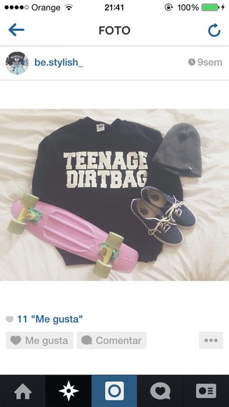 sweater vans white shoes black teenagers hat lovely pepa