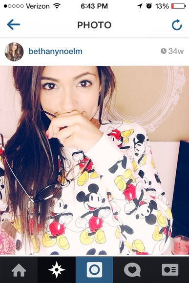 sweater disney bethany mota mickie mouse