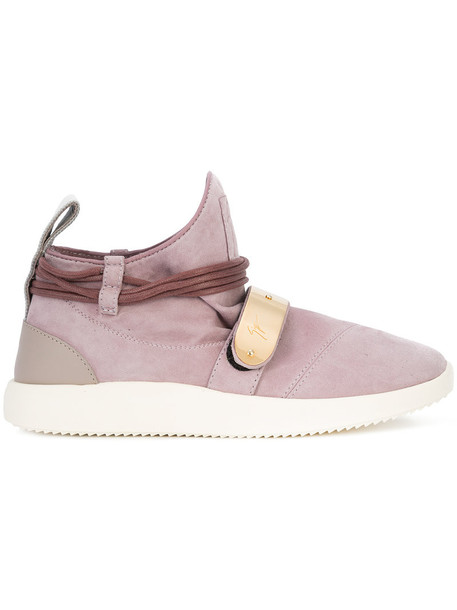 GIUSEPPE ZANOTTI DESIGN women sneakers leather suede purple pink shoes