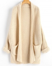 cardigan,girly,cream,knit,knitted cardigan,long,long cardigan