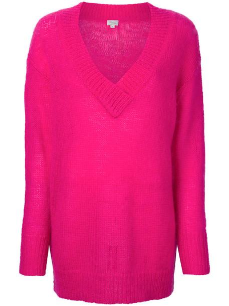 Temperley London jumper women mohair purple pink sweater