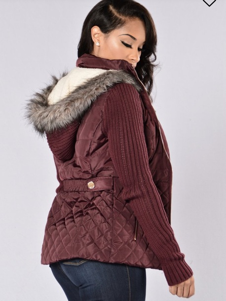blouse coat coat fashion nova burgundy