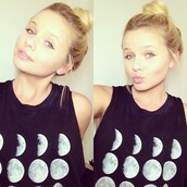 shirt,moon,black,alli simpson