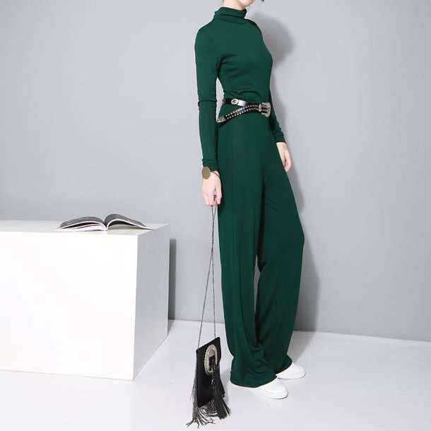 d7f20d3085e5 jumpsuit marigold shadows green jumpsuit green green clothing womens  jumpsuit long sleeve jumpsuits winter jumpsuit long