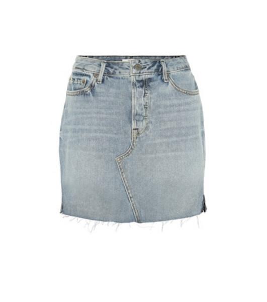 Grlfrnd Blaire high-waisted denim miniskirt in blue