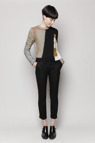 pants shoes black jeans geometric