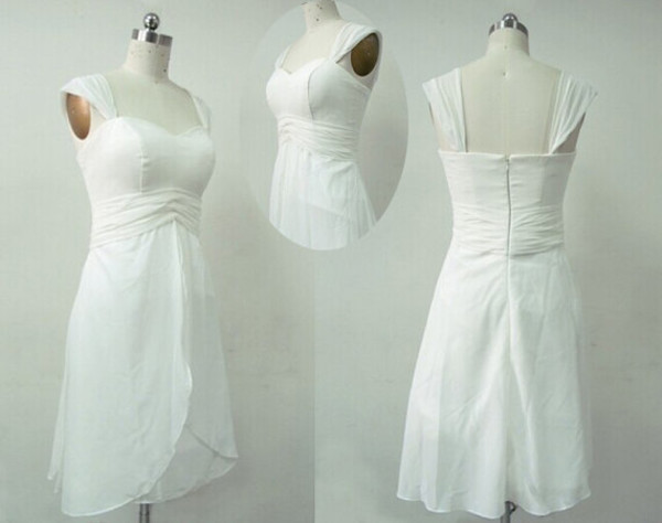 wedding dresses chiffon wedding dress short dress