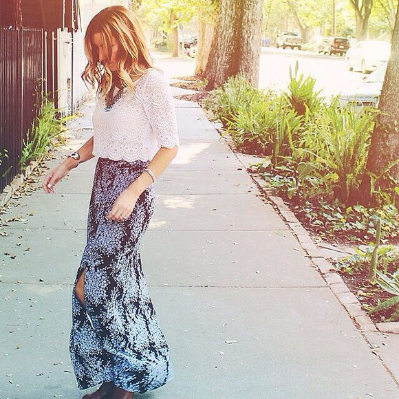 floral skirt blouse