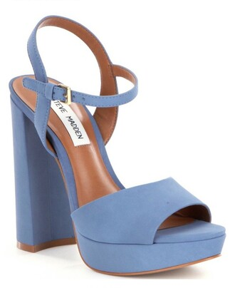 shoes high heels heels on gasoline heels platform heels thick heel high heel pumps blue baby blue steve madden