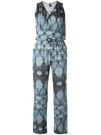 jumpsuit women spandex blue