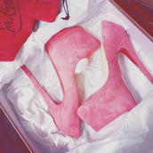 shoes,pink,heels,high heels,pink high heels,louboutin,fashion,princess,baby pink,pumps,high,prom,formal,evening outfits,party,summer,outfit,baby,tumblr,weheartit,sexy,dress,hot,pink by victorias secret,going out,pink swimwear,hells