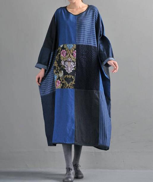 dress maxi dress oversized cowboy robe