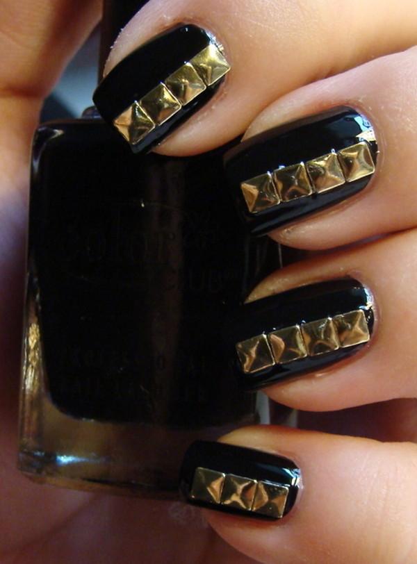 Amazon nail labo nls metal studs flat pyramid gold 4mm amazon nail labo nls metal studs flat pyramid gold 4mm home kitchen prinsesfo Images