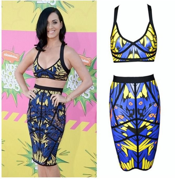 2014 Bandage Dress Women New Fashion Vestidos Summer Sexy Printed Two Pieces Bodycon Party Dress TY056-in Apparel & Accessories on Aliexpress.com