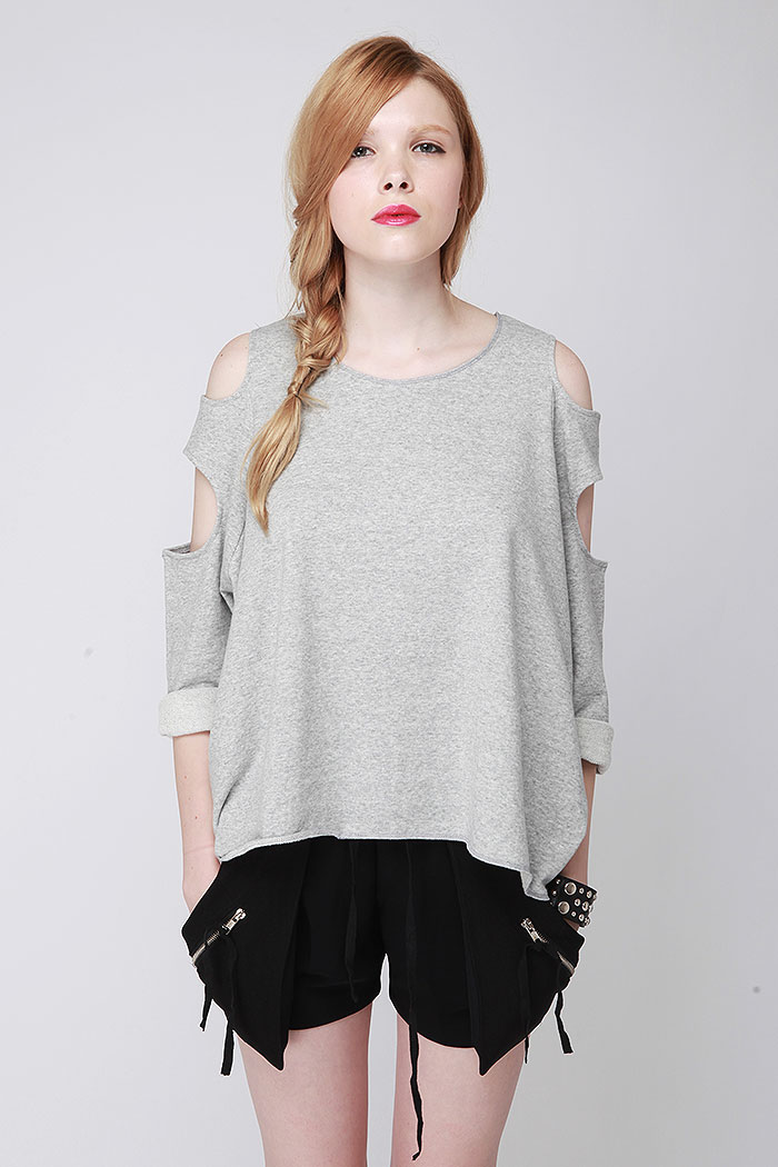 Dresskill cut out sleeve oversized top (3colors)