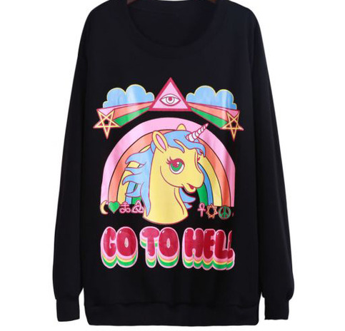 Unicorn go to hell sweater