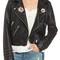 Blanknyc printed studded moto jacket | nordstrom