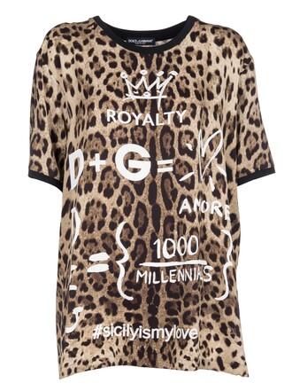 t-shirt shirt print leopard print top