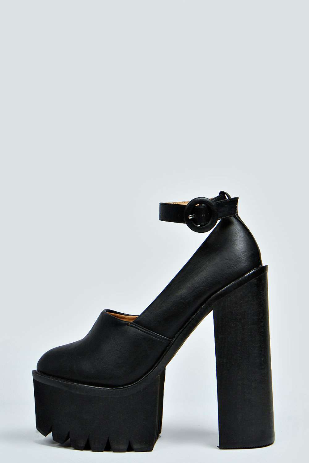 Macey Ankle Strap Cleated Sole & Tread Platforms