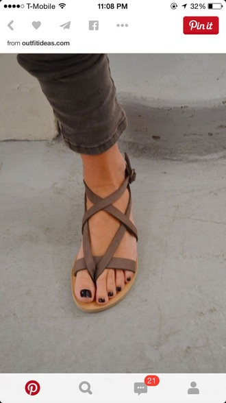 shoes sandals taupe brown