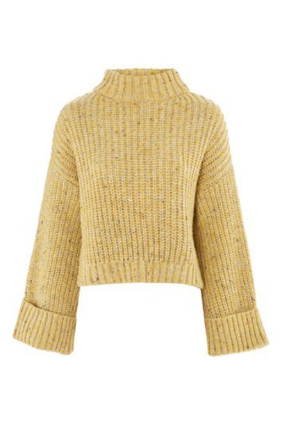 Topshop sweater back yellow