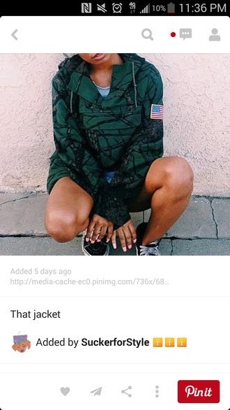 green jacket camo jacket