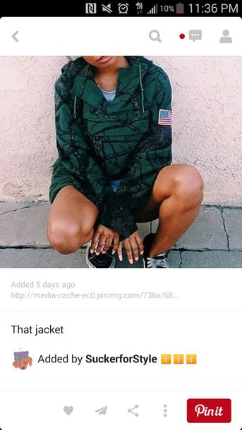 green jacket camo jacket coat