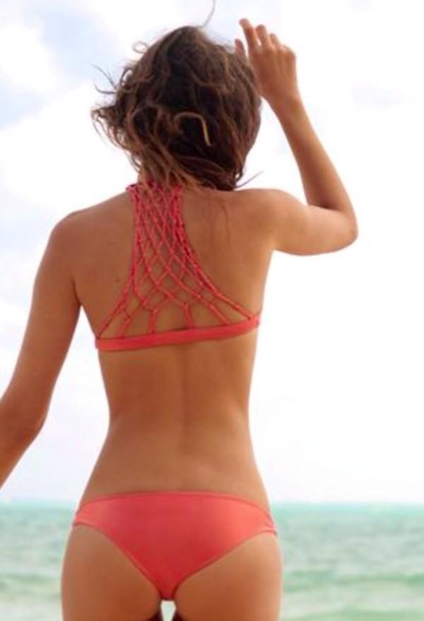 Swimwear Pink Bikini Tumblr Bikini Bikini Top Bikini