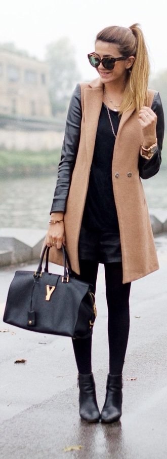 jacket brown camel leather classy