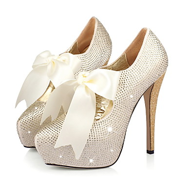Satin Stiletto Heel Closed Toe Pumps Party / Evening Shoes With [00327131] - £597.99 :
