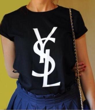 t-shirt shirt saint laurent ysl ysl tshirts ysl cotton shirt