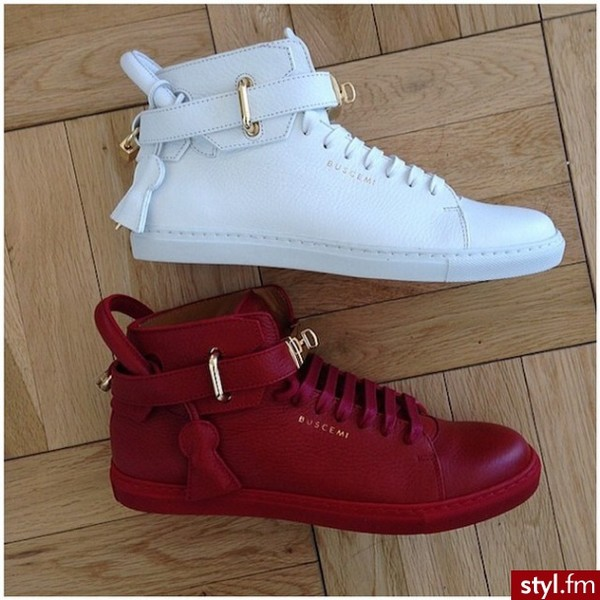 Shoes: white, gold, sneakers, buscemi, justin bieber, swag ...