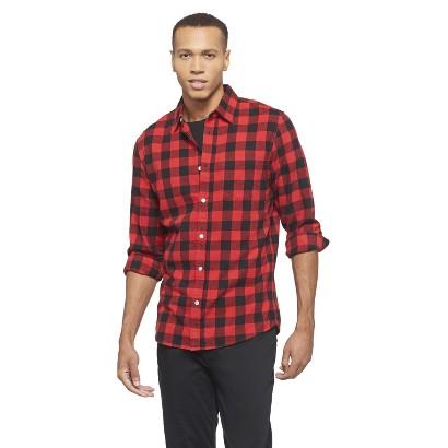 Chor Men's Buffalo Check Cotton Shirt - Red