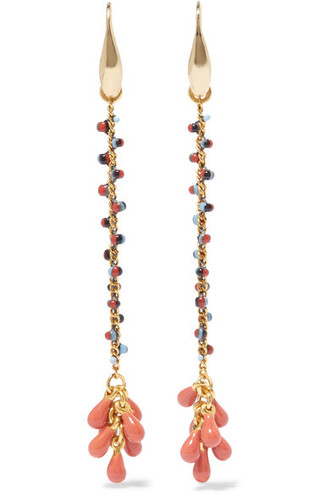 beaded earrings gold jewels
