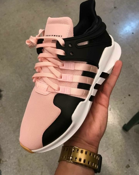 c7e69fda85bb1c shoes adidas shoes pink black running shoes white white shoes cute pastel pink  shoes black shoes