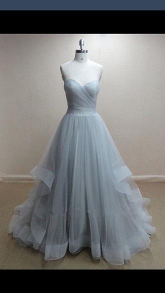 dress light blue dresses prom dress