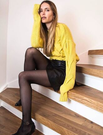sweater yellow yellow sweater pernille teisbaek blogger instagram spring outfits spring